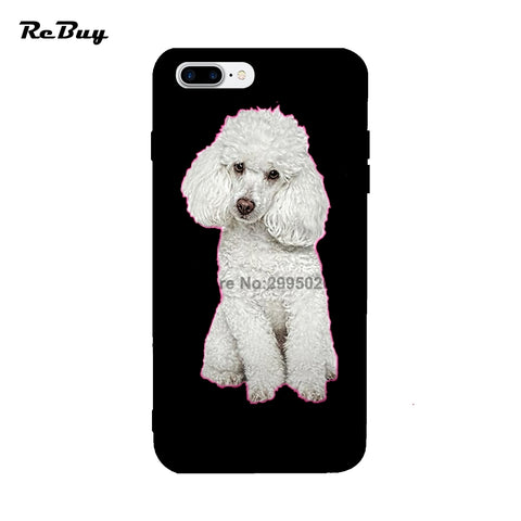 Phone Cases Poodle For Iphone Case 7/7plus Soft TPU Anti-knock Colorful Protect Back Cover For Iphone 6/6s/6plus 4.7/5.5Inch