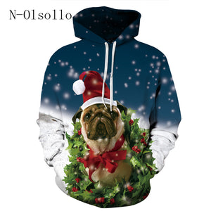 Pug  Christmas Sweatshirt  For Women