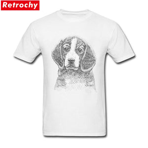 Beagle drawing  Printed T Shirts for Men