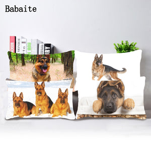 German Shepherd  Pillow Case Cover  Set
