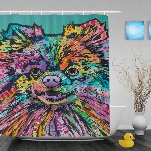 Pomeranian Shower Curtains