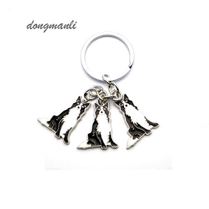 Border collie key chains