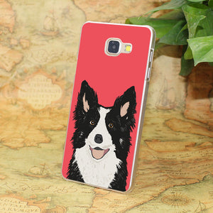 Border Collie  transparent clear phone shell case for Samsung Galaxy A3 A510 A7 2017 A8 A9