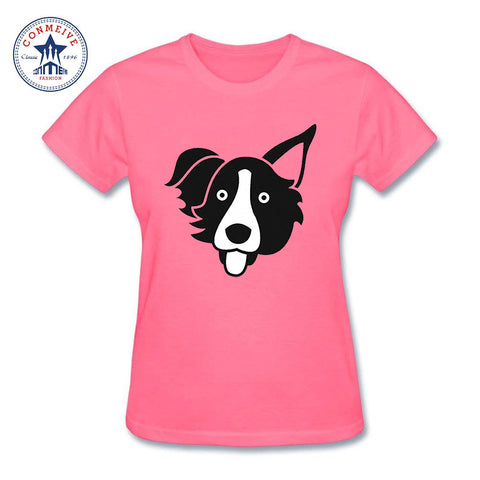 Border Collie  funny t shirt women