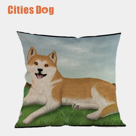 Akita inu Decorative Pillows case   45x45cm