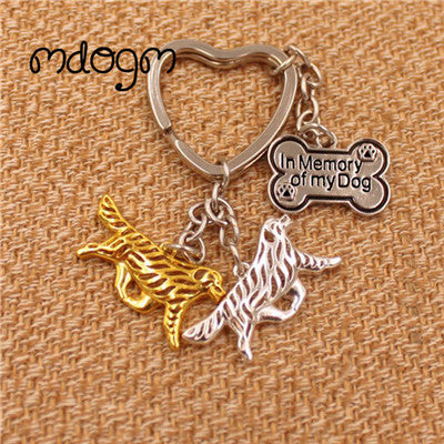 Newfoundland  Gold Silver Plated Metal Pendant Key chain