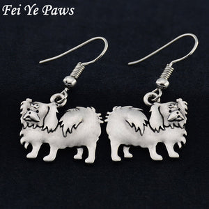Pekingese Drop Earrings