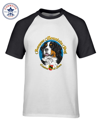 Bernese mountain dog funny t shirt for men short sleeve