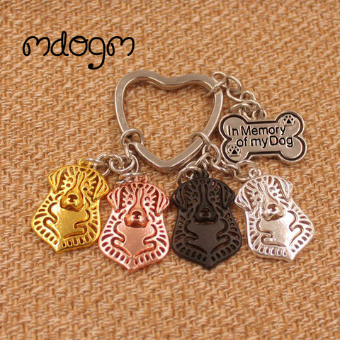 Bernese  Gold Silver Plated Metal Pendant Key chain