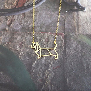Basset Hound dog Pendant Necklace women choker chain necklace
