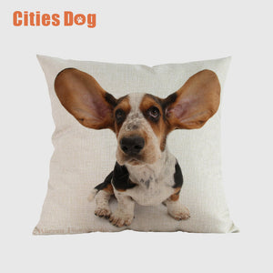 Basset Hound Cushion Cover Pillowcase High temperature printing does not fade