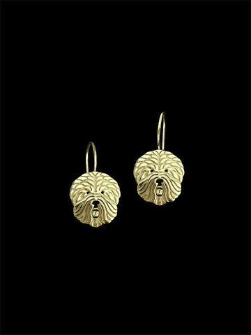 old English sheepdog drop earrings