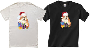 English bulldog  Celebrate Christmas t-shirt for Men