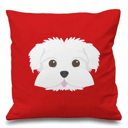 New Design Maltese Face Throw Pillow Case