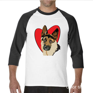 German Shepherd  t shirt for Men men