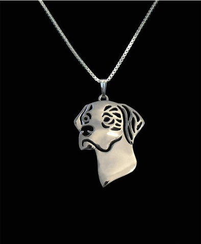 Unique Handmade Boho Chic English Pointer Necklace