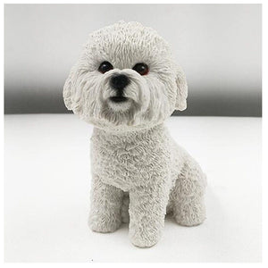 High quality  Bichon Frise dog figure
