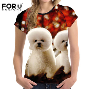 Bichon Frise Printed T shirt for Women