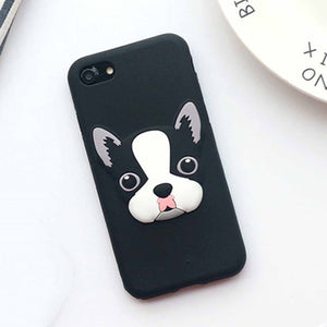 French Bulldog Silicon Case for iPhone 7 7plus 6/6s Plus