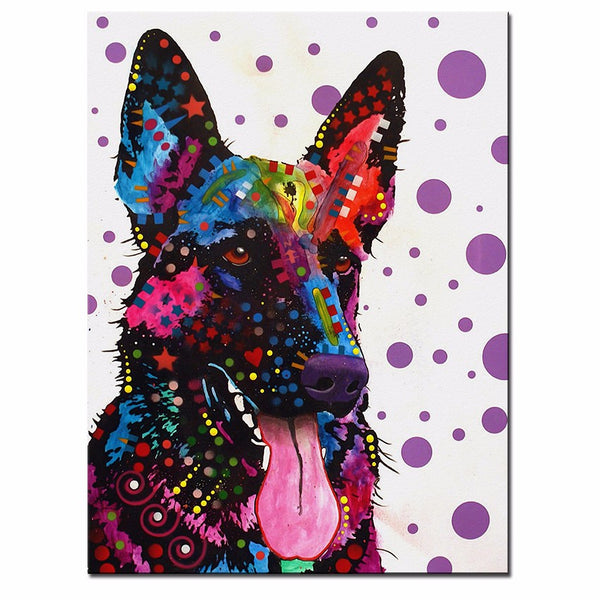 German Shepherd Home Decorative Wall Large size Print Oil Painting No Frame