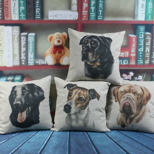 "18""x18"" Dog DE Bordeaux Pillow Cushion Cover"