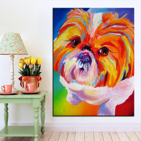 Shih tzu Large size Print Oil Painting  Wall painting Home Decorative Wall Art No Frame