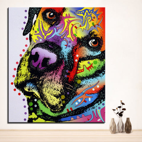Large size Print Oil Painting Wall painting labrador retriever Home Decorative Wall  Art Picture Living Room paintng No Frame