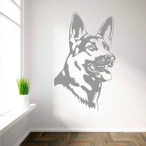 Removable German Shepherd Alsatian Dog Vinyl wall art sticker Home Decoration Room Wall Sticker Art Wall Papers