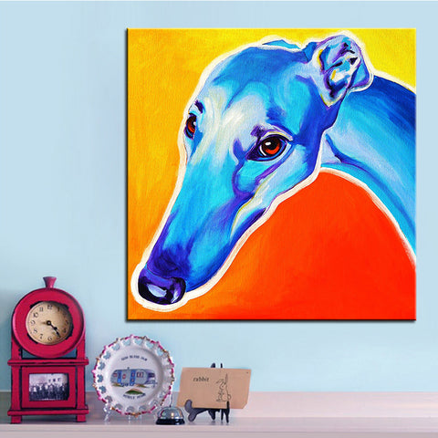Greyhound  Large size Print Oil Painting