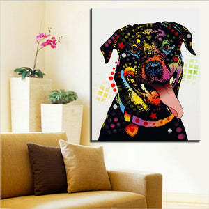 Rottweiler Large size Print Oil Painting  No Frame