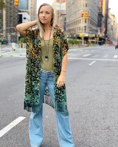 Our 'Mossy forest' kimono  is part of the 'Forest floor'