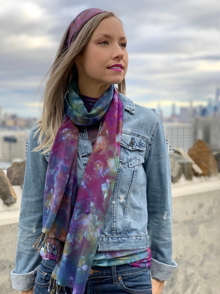 Oversized scarf (Grey/black)