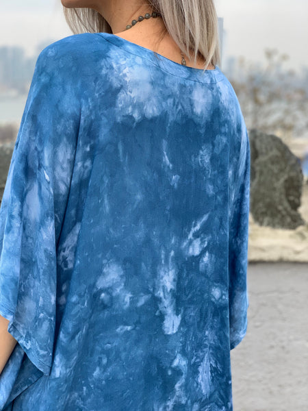 Clear blue tunic
