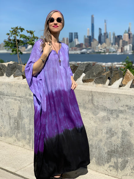 Color blocked caftan