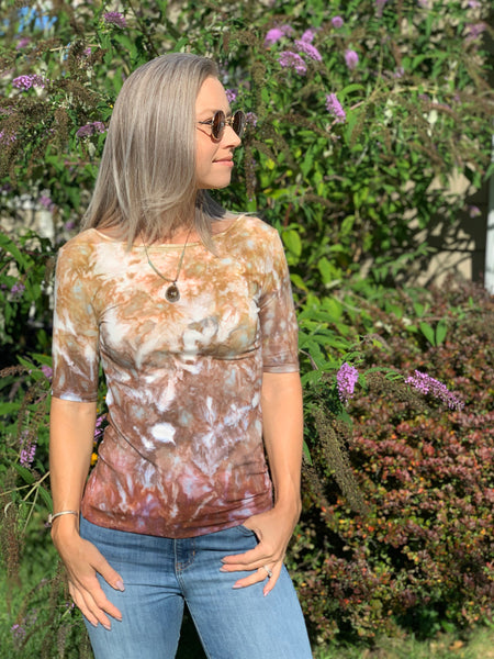 Autumn leaves reversible tee