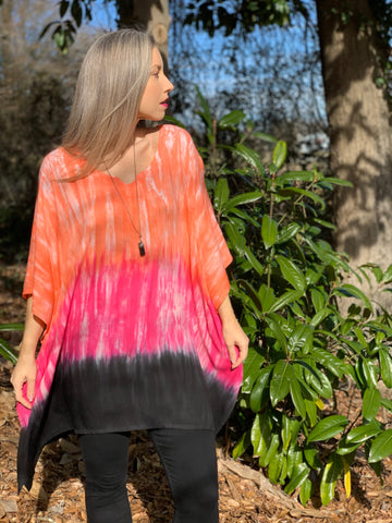 Paradise sunset tunic