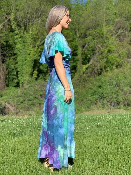 Flutter wrap dress- tide pool