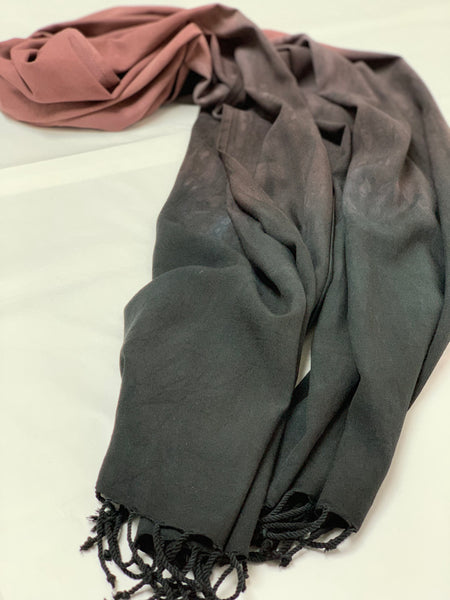 Oversized scarf (Burgundy/black)