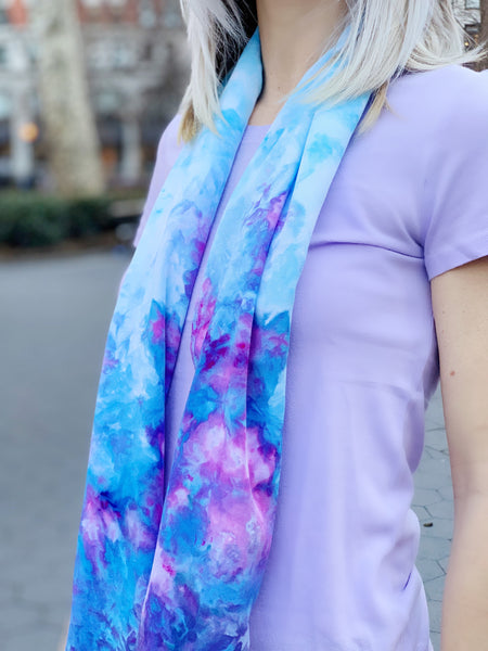 Oversized scarf (purple rain)