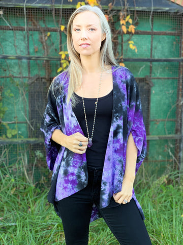 Purple/black cardigan