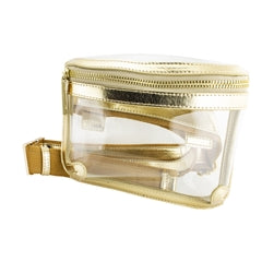 Metallic Gold Clear Belt Bag