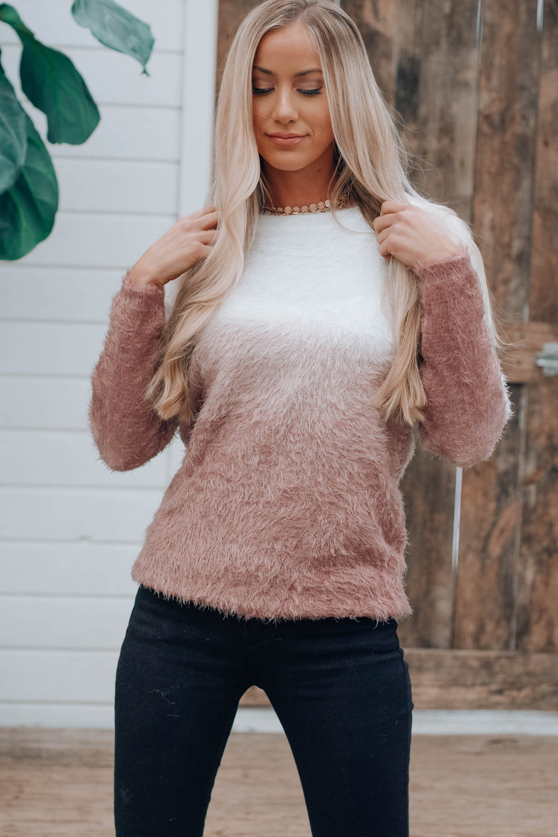 Ombre Rose Sweater
