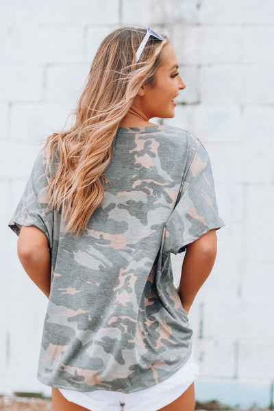 RESTOCKED: Beckett Camo Top