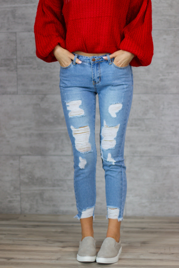 Presley Distressed Denim