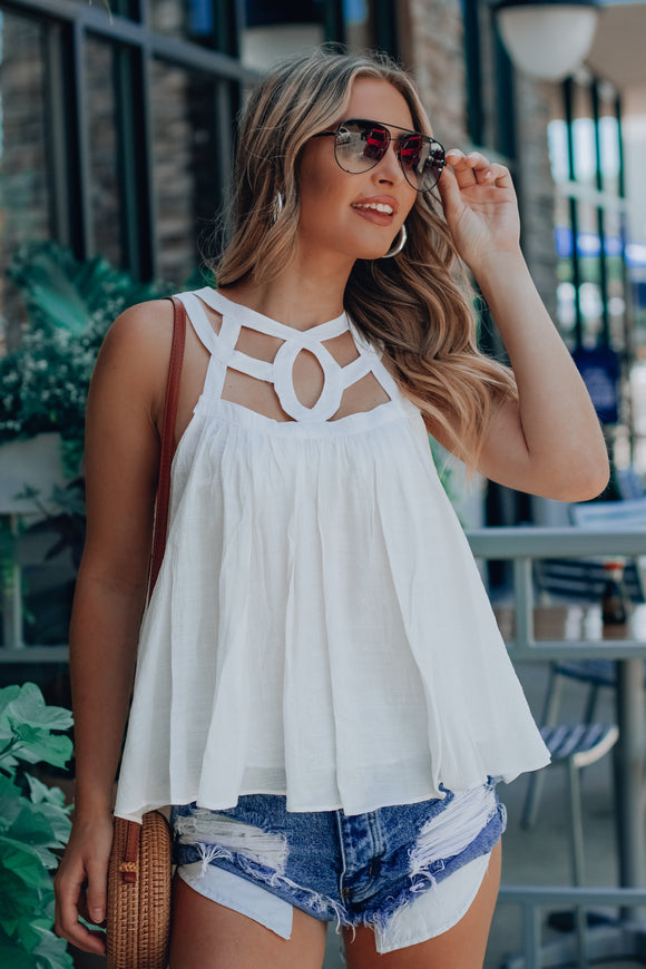 Tasia Cream Top