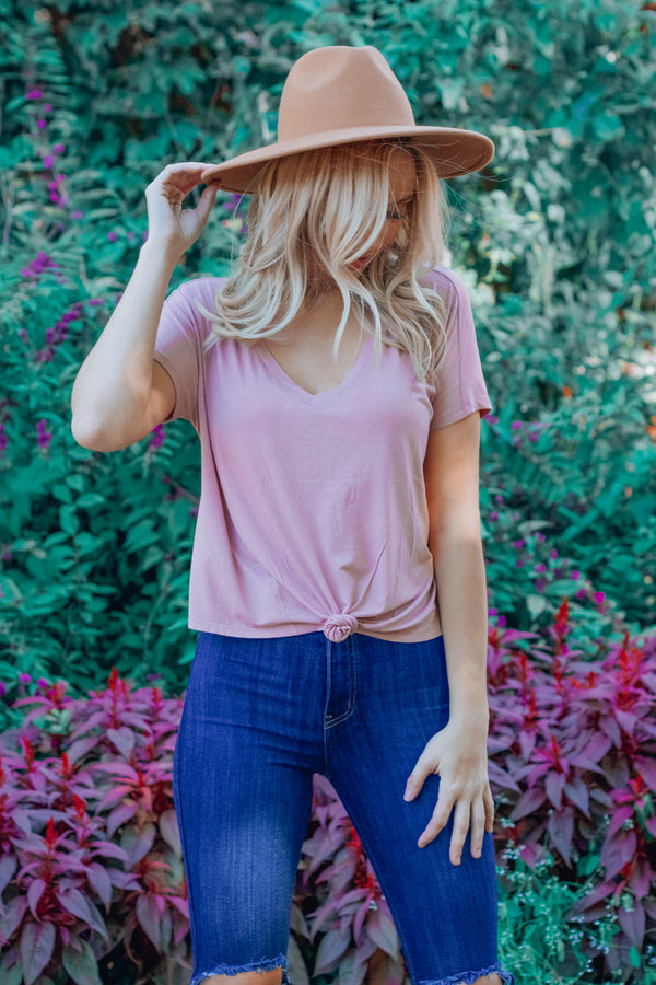 Underneath It All V-Neck Crop Tee