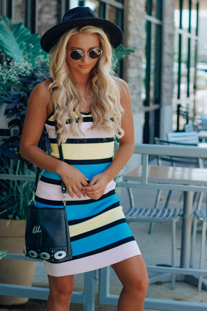 Darren Striped Midi Dress