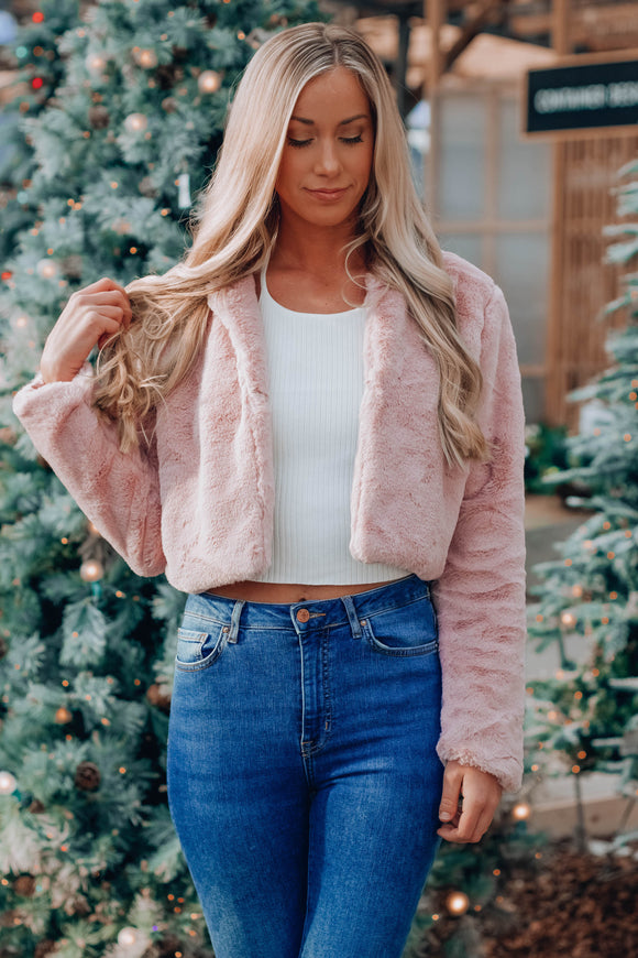 Viviana Faux Fur Crop Sweater