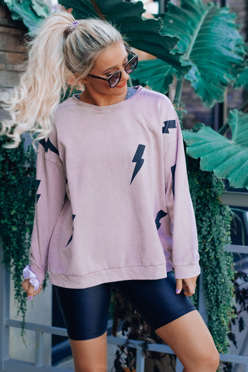 Lightning Crew Neck Sweatshirt
