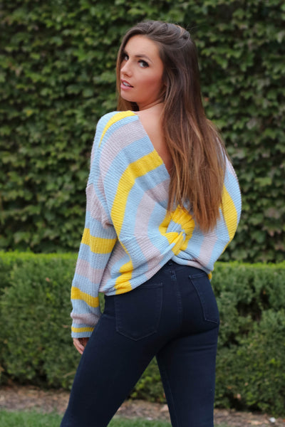 FLASH SALE: Sunrise Sunset Knotted Sweater
